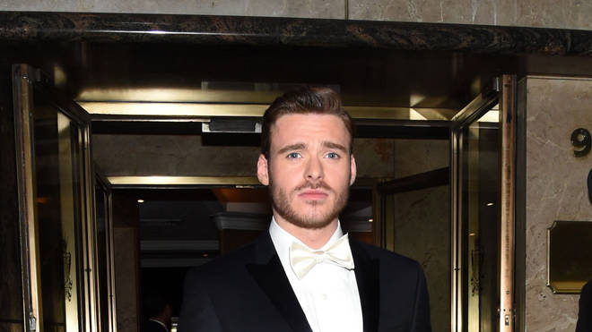Actor Richard Madden leaves the Met Gala in 2015