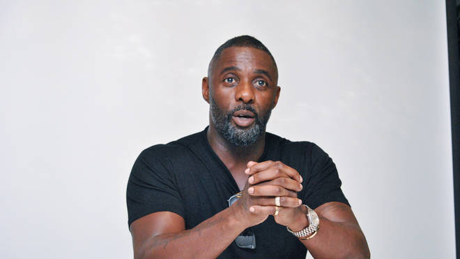 "Idris Elba at the Hollywood Foreign Press Association press conference for ""Turn Up Charlie"" held in London, England on August 23, 2018"