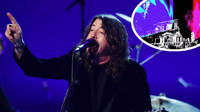 Foo Fighters' Dave Grohl with music teaser inset
