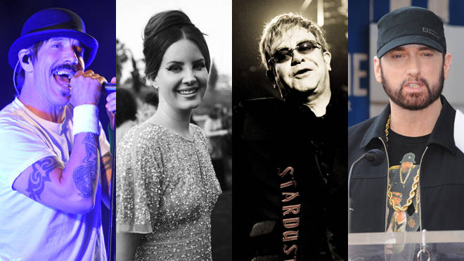 Musicians who live the clean lifestyle: Anthony Kiedis, Lana Del Rey, Elton John and Eminem