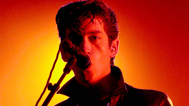 Alex Turner on stage with Arctic Monkeys at Lowlands Festival 2011