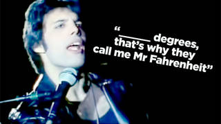 Freddie Mercury in the video for Queen's Don't Stop Me Now
