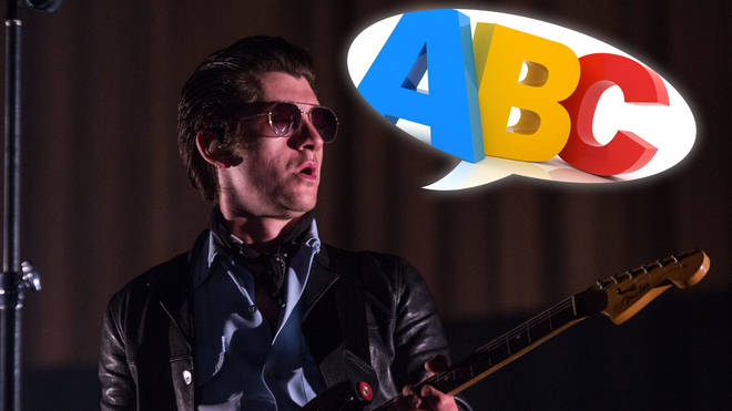 Arctic Monkeys' Alex Turner and ABC in a speech bubble