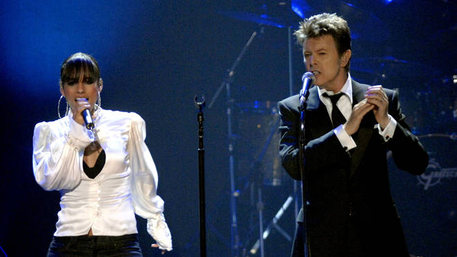 Alicia Keys and David Bowie performing at at Hammerstein Ballroom in New York City, 9 November 2006