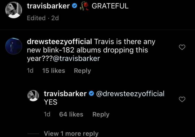 Travis Barker confirms a new Blin 182 album in 2021