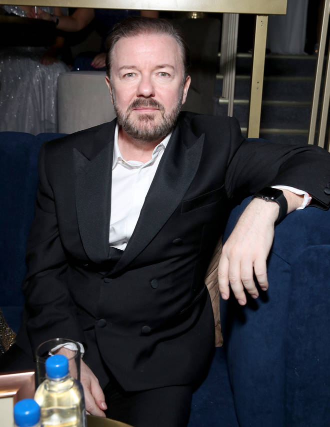 Ricky Gervais at the Netflix 2020 Golden Globes After Party