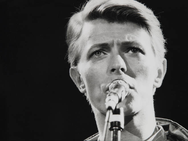 David Bowie performing live in 1978