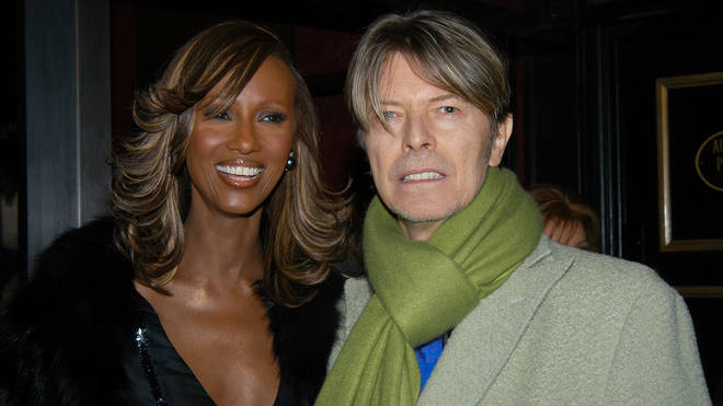 Iman and David Bowie at the premiere for Gangs Of New York, December 2002
