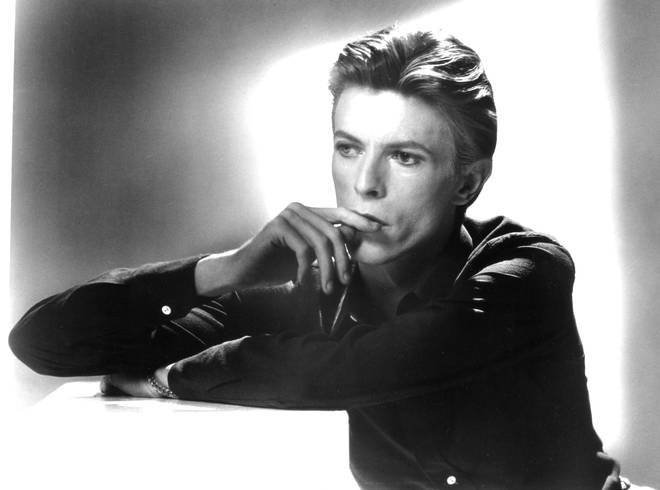 David Bowie in 1976, as photographed by Tom Kelley for the cover of the compilation ChengesOneBowie