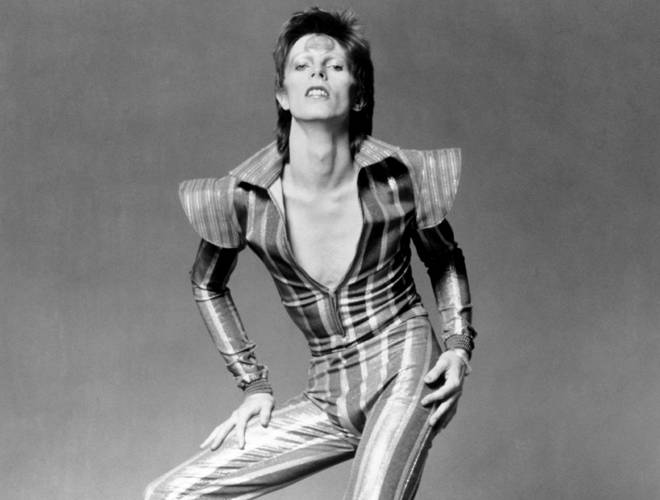 Bowie in his Ziggy Stardust outfit in June 1972
