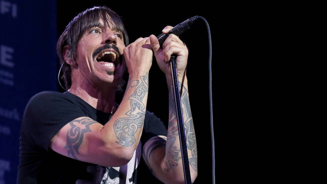 Anthony Kiedis performing with Red Hot Chili Peppers back in 2017