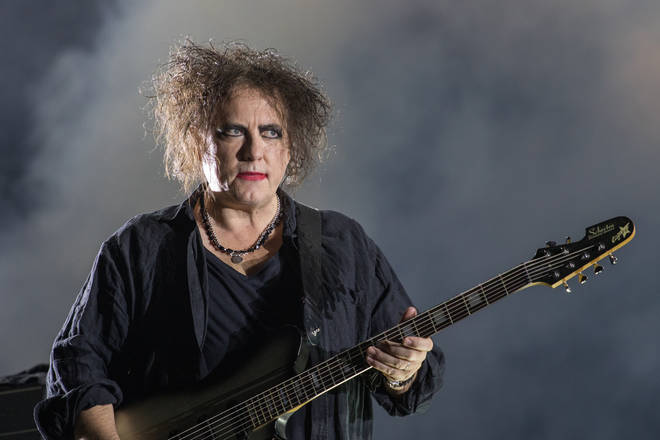 Robert Smith onstage with The Cure in October 2019