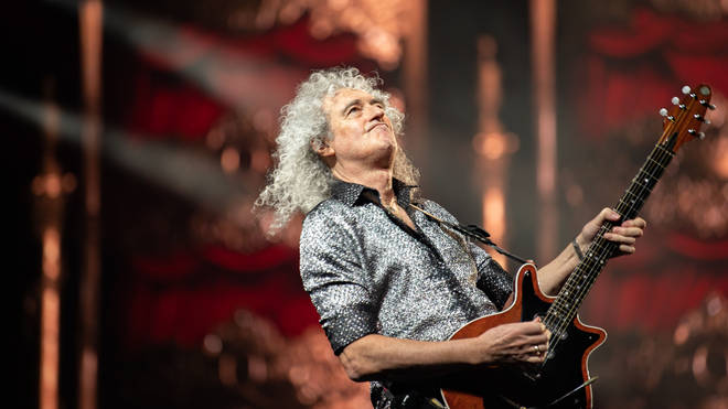 Queen guitarist Brian May performs in Seoul in 2020