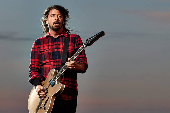 Dave Grohl onstage at Rock am Ring festival in Germany, 2015