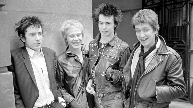Punk rock band Sex Pistols in 1976