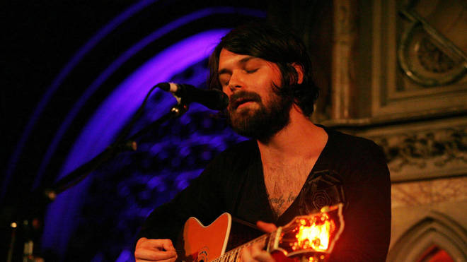 Biffy Clyro's Simon Neil at the Union Chapel, Islington in central London in 2008