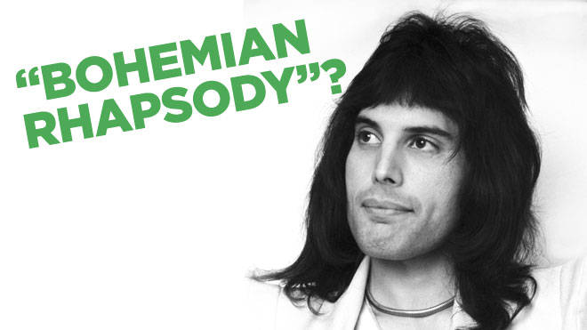 """Do the words """"Bohemian Rhapsody"""" appear in the lyrics to the famous Queen song?"""