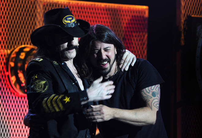 The late Motörhead frontman Lemmy and Foo Fighters' Dave Grohl