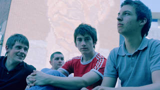 Arctic Monkeys in 2006: Jamie Cook, Andy Nicholson, Alex Turner and Matt Helders