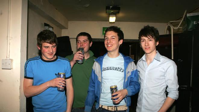 Arctic Monkeys performing in Sheffield in 2005