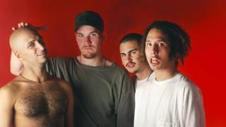 Rage Against The Machine in June 1993: Tom Morello, Tim Commerford, Brad Wilk and Zack De La Rocha.