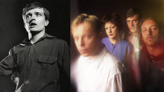 Ian Curtis and the members of New Order: Bernard Sumner, Gillian Gilbert, Stephen Morris and Peter Hook