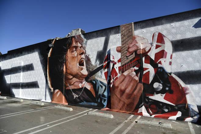Eddie Van Halen Mural Long Live The King by artist Robert Vargas