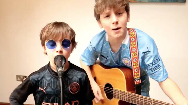 Brothers Alex and Luca cover Oasis banger She's Electric