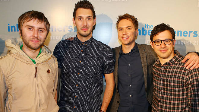 The Inbetweeners cast James Buckley, Blake Harrison, Joe Thomas and Simon Bird