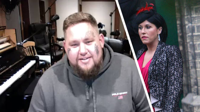 Rag'n'Bone Man and the character Kat Slater from Eastenders played by Jessie Wallace