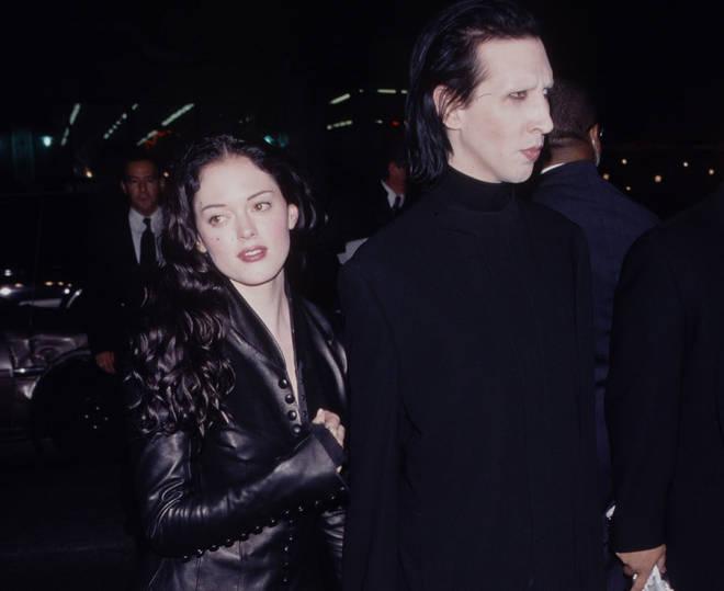Rose McGowan and Marilyn Manson circa 2000