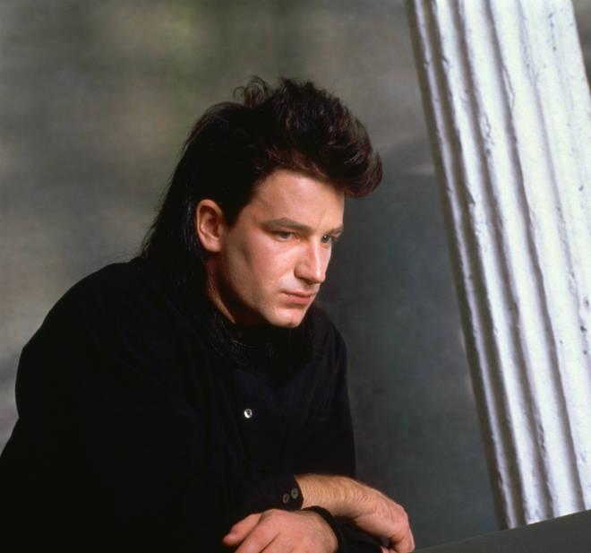 Paul Hewson rocking the Bono mullet