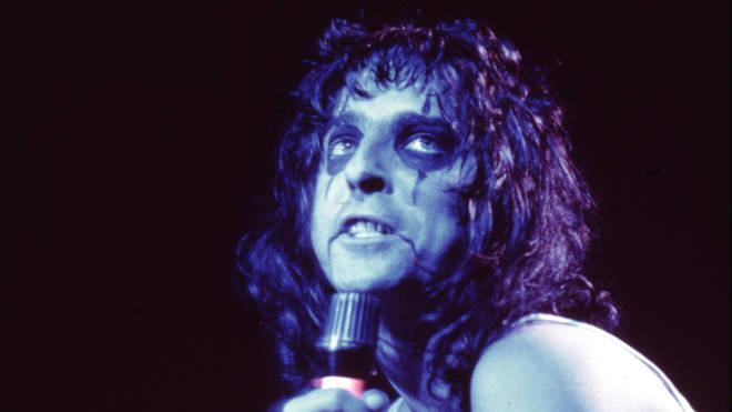 Alice Cooper in action in the 1970s