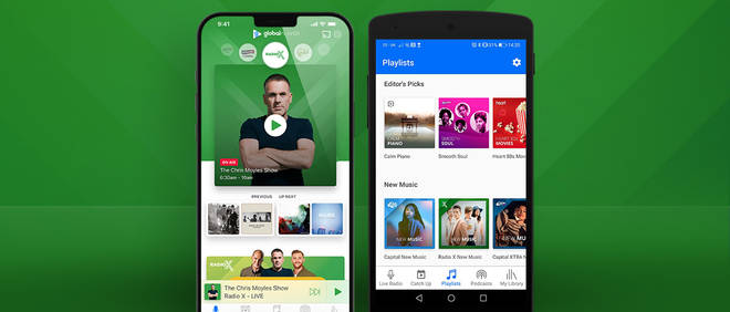You can listen to Radio X on Global Player