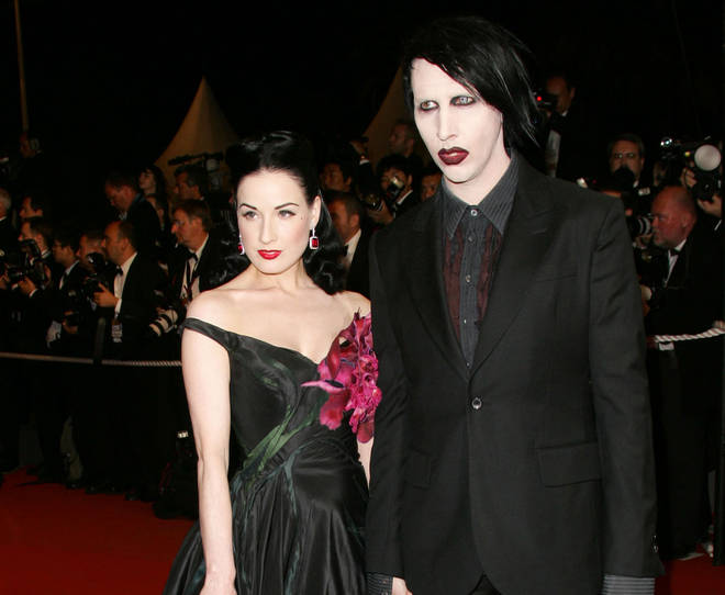 Dita Von Teese and Marilyn Manson at the 2006 Cannes Film Festival