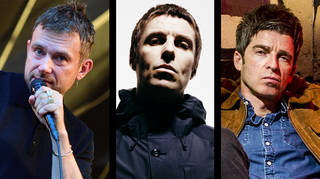 Damon Albarn, Liam Gallagher and Noel Gallagher