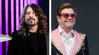 Foo Fighters' Dave Grohl and Elton John