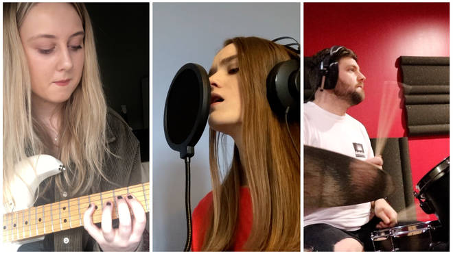 Some of the performers on the Viola Beach tribute single