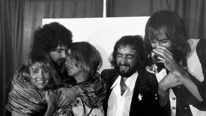 A big night out for Fleetwood Mac at the Los Angeles Rock Awards on 1 September 1977, the year of Rumours' huge success