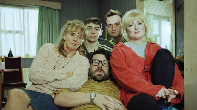 Ralf Little with the rest of the cast of The Royle Family