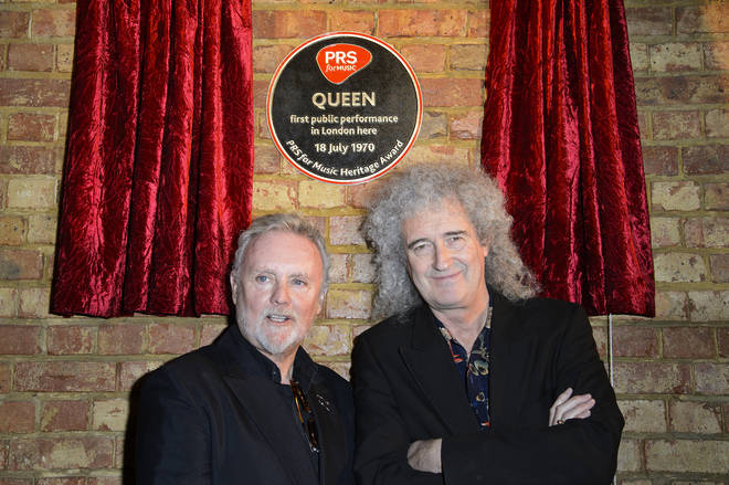 Roger Taylor and Brian May unveil a plaque marking the first ever Queen gig at Imperial College, March 2013
