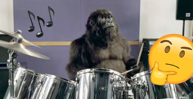 What's this gorilla meant to be advertising? And more importantly, what tune is playing?