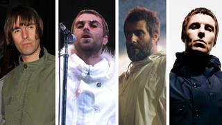 Liam Gallagher wearing parka jackets throughout the years