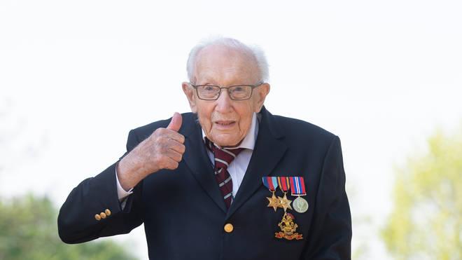 Captain Sir Tom Moore in 2020