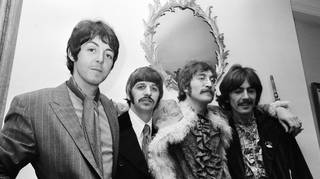 The Beatles launch Sgt Pepper in London on 19 May 1967