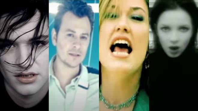 The stars of 1998: Brian Molko, James Dean Bradfield, Cerys Matthews and Shirley Manson