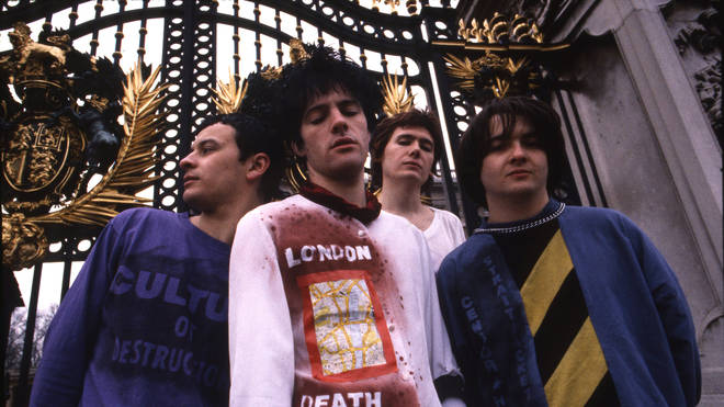 Manic Street Preachers in 1991: James Dean Bradfield, Richey James, Nicky Wire and Sean Moore