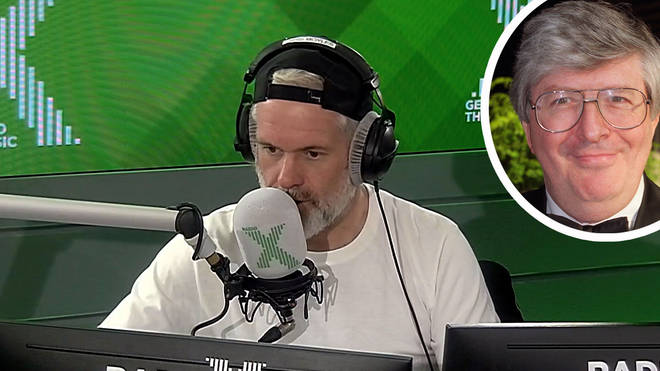 Chris Moyles does his best impression of Simon Bates