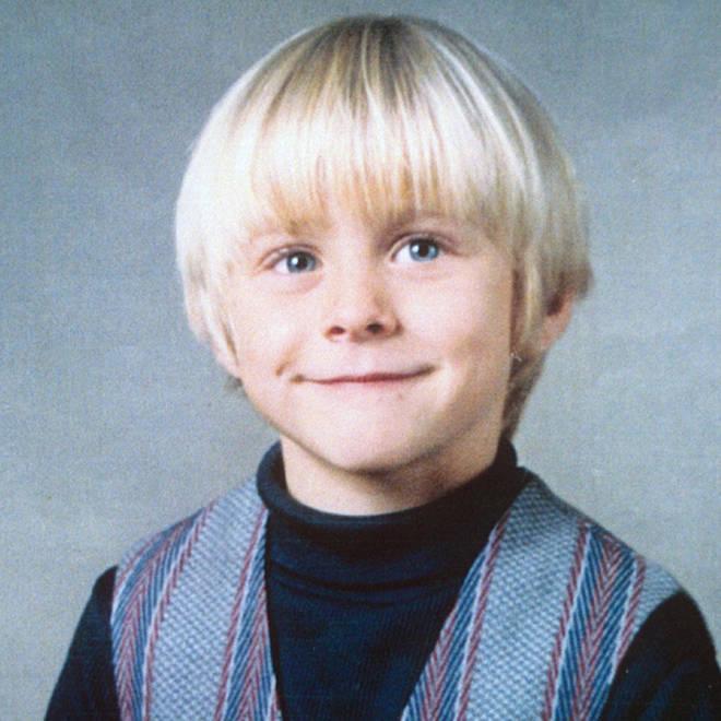 Kurt Cobain as a young boy