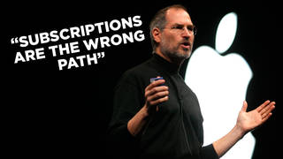 Steve Jobs launches the iTunes Store with some prophetic words